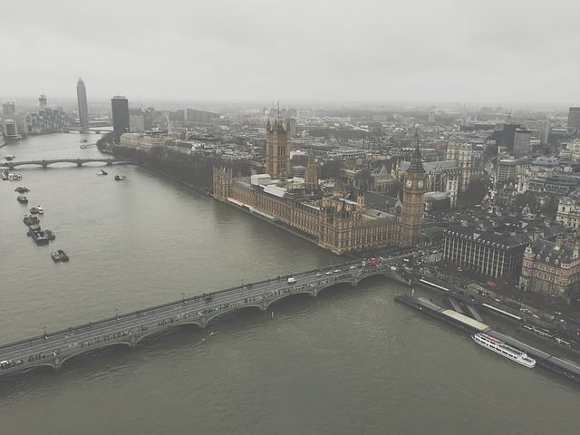 Travel with a drone to London